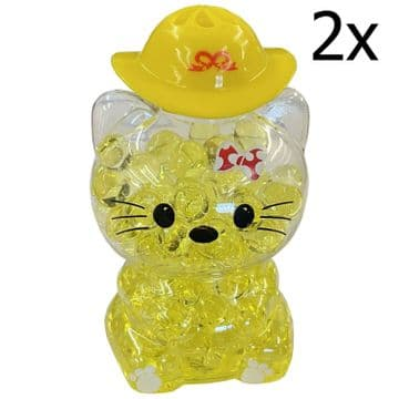 2 x YELLOW LEMON CAT AIR FRESHENERS car home bathroom caravan motorhome truck
